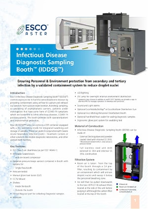 Infectious Disease Diagnostic Sampling Booth™ (IDDSB™)