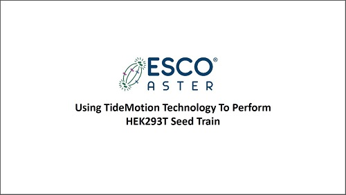 Using TideMotion Technology To Perform HEK293T Seed train
