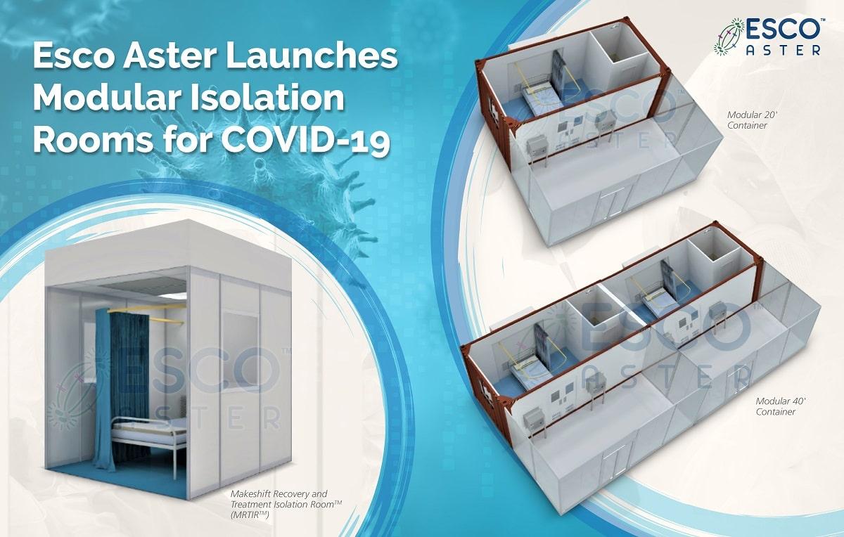 Esco Aster ra mắt phòng cách ly kiểu mô-đun <br>sử dụng cho COVID-19