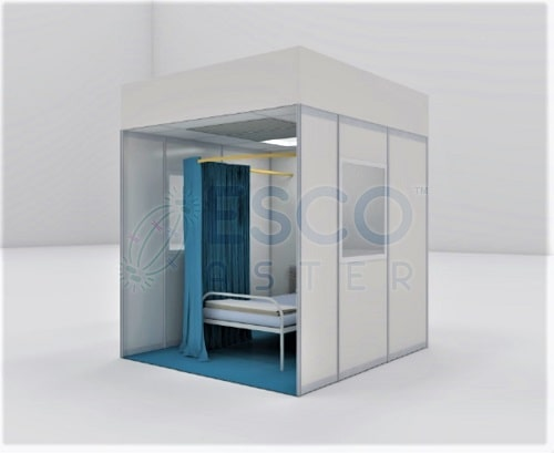 Isometric View of Esco Makeshift Recovery and Treatment Isolation Room (MSIR™)