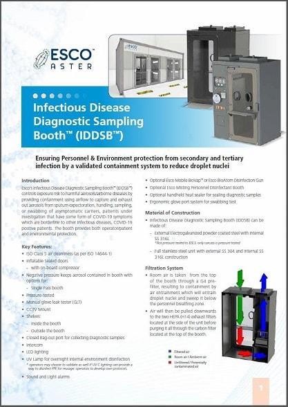 Infectious Disease Diagnostic Sampling Booth™ (IDDSB™) brochure